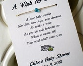 A Wish for Baby - Wish Bracelet Party Favor Custom Made for You