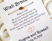 Two Hearts - A Wedding Wish with Heart - Wish Bracelet Wedding Favor Custom Made for You