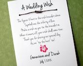 Hawaii Island - A Wedding Wish - Infinity Love Knot Wish Bracelet Wedding Favor Custom Made for You