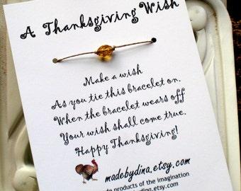 Thanksgiving Wish Bracelet