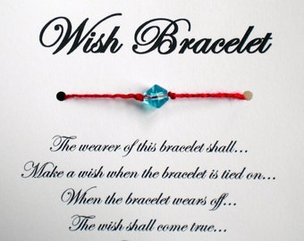 Lucky Red String - Wish Bracelet - Wedding Favor Party Favor Custom Made for You