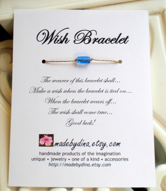 Wish Bracelet Wedding Favor Party Favor Custom Made For You
