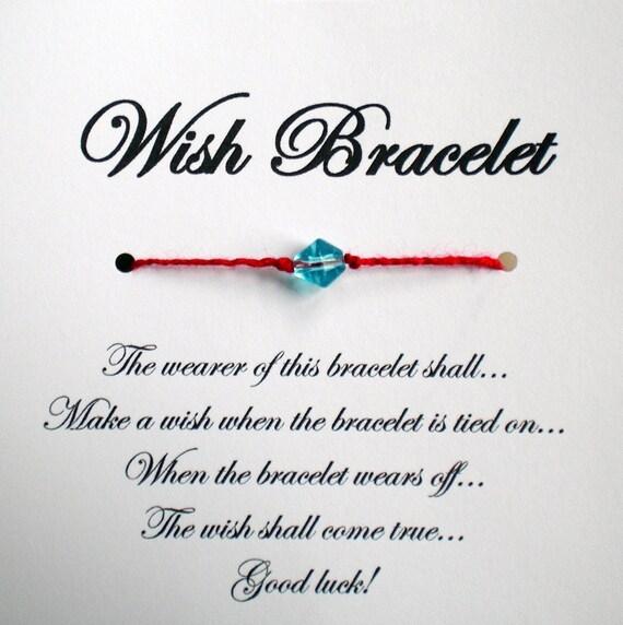 Lucky Red String Wish Bracelet Wedding Favor Party By Madebydina