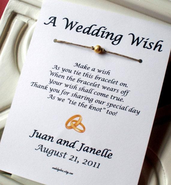 Gold Rings A Wedding Wish Wish Bracelet Wedding By Madebydina