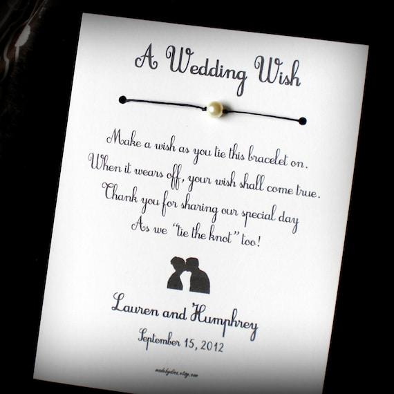 Old Hollywood - A Wedding Wish - Wish Bracelet Wedding Favor Custom Made for You