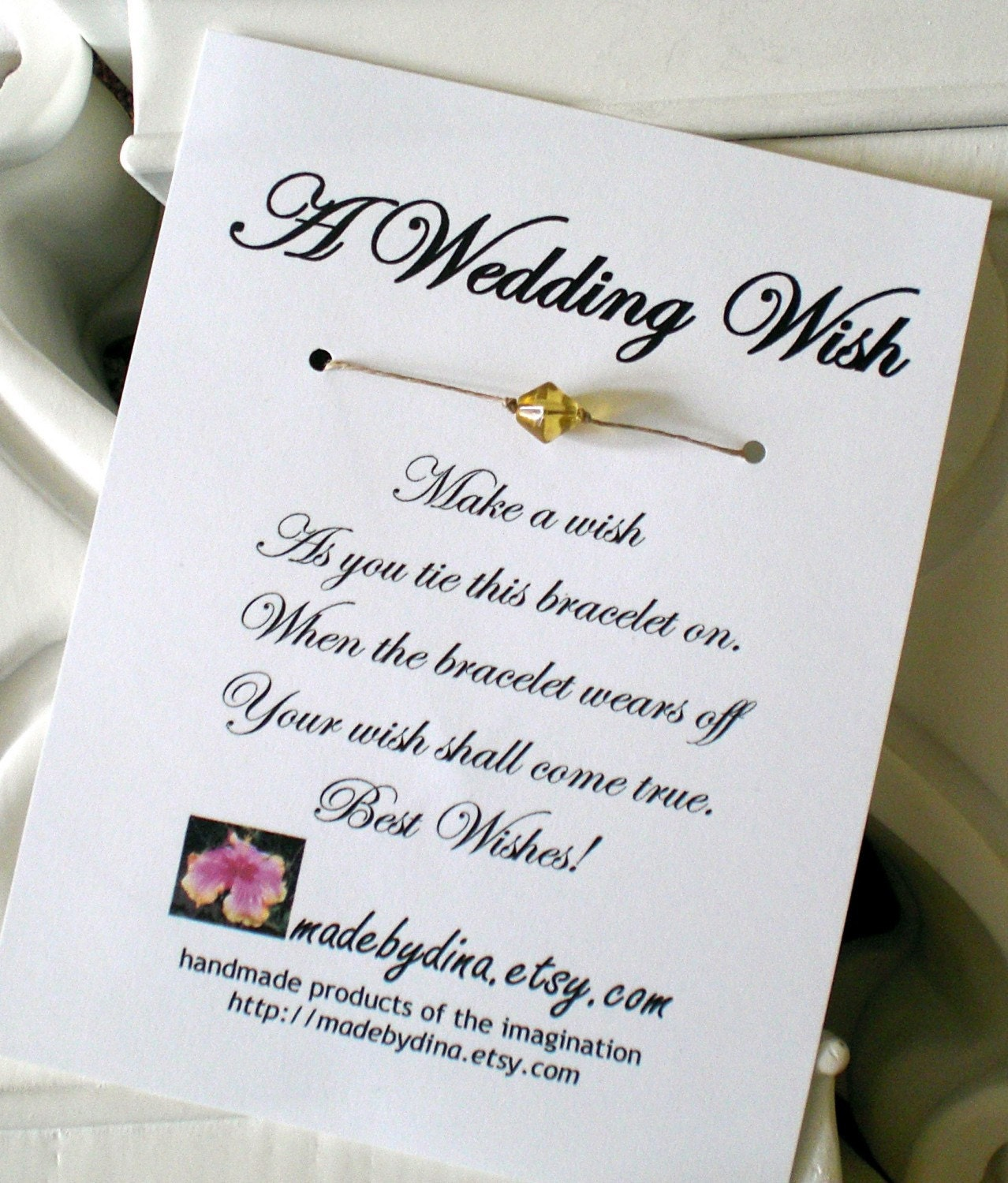 Quotes For Friends On Their Wedding Day A Wish Bracelet Favor Custom Made