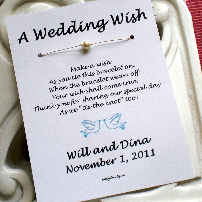 Classic Pearl WISH BRACELET Wedding Favor Custom Made For You