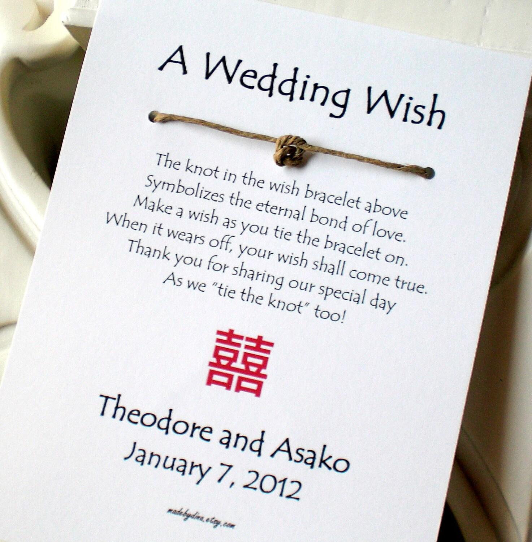 Double Happiness A Wedding Wish Wish Bracelet By Madebydina