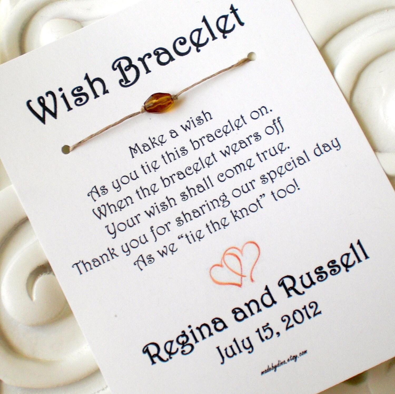 Two Hearts A Wedding Wish With Heart Wish Bracelet Wedding