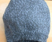 Blue Denim Slouchy Beanie