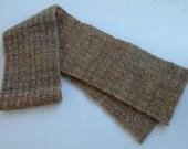 Variegated Brown Wool Scarf