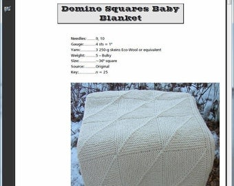 Domino Squares Baby Blanket Pattern