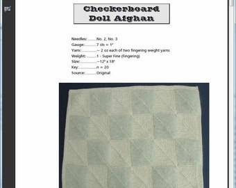 Checkerboard Doll Afghan Pattern