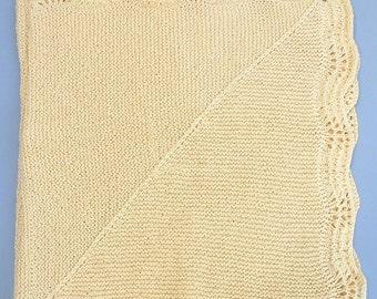 Soft Yellow Cotton Baby Blanket