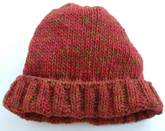 Rusty Red Wool Watch Cap