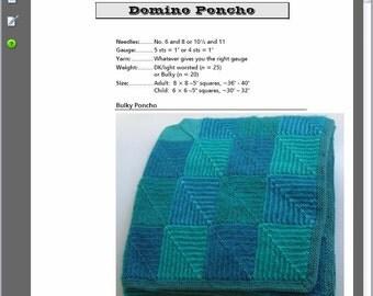 Domino Poncho Pattern