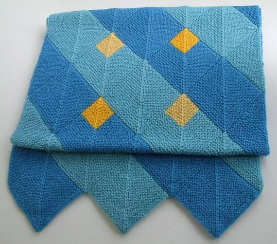Spring Flowers Blue-Yellow Wool Wrap