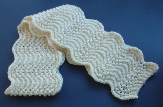 Frothy Wool-Mohair Scalloped Scarf