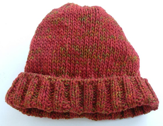Rusty Red Wool Watch Cap