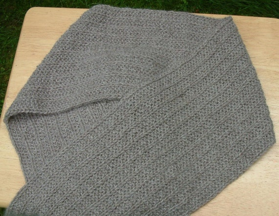 Taupe Men's Extra Long Alpaca Scarf