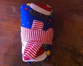 Crayon Roll Up - Christmas Santas - Stocking Stuffer
