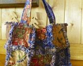 Rag Quilt Bag-Purse-Cowboys