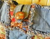 Rag Quilt Bag-Purse-Cowboys and Denim-Large