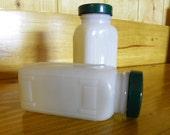 Vintage White Milk Glass Spice Jars