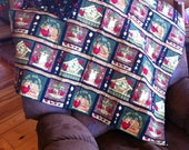 Christmas Lap Quilt, Throw, Wall Hanging-Bless Our Nest