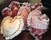 Rag  Heart Pillow, Pillow Sachet, Tooth Fairy Pillow,Valentine