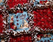 Large Christmas Rag Quilt Throw