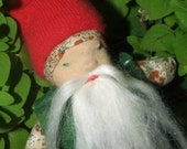 Mister Garden Gnome  in Vintage and Wool