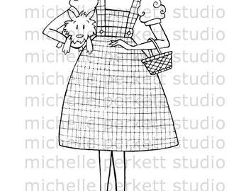 Digital Stamp Image Wizard of Oz Dorothy Toto Cardmaking Scrapbooking