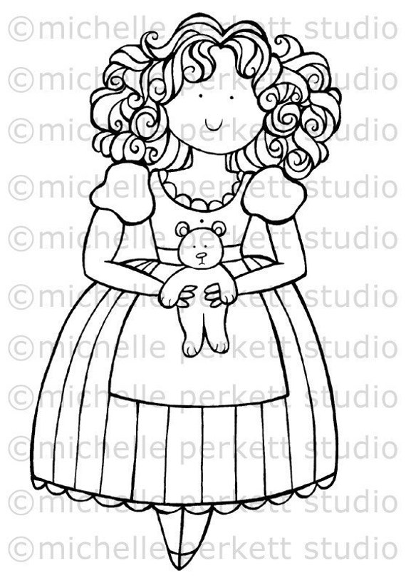 Items Similar To Digital Stamp Image Goldilocks Bear Fairy