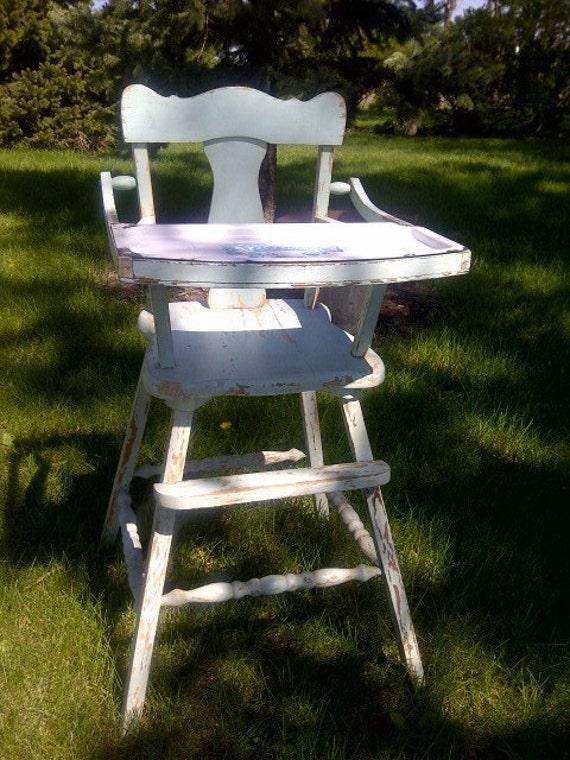 Vintage Primitive Antique Child S High Chair Removable