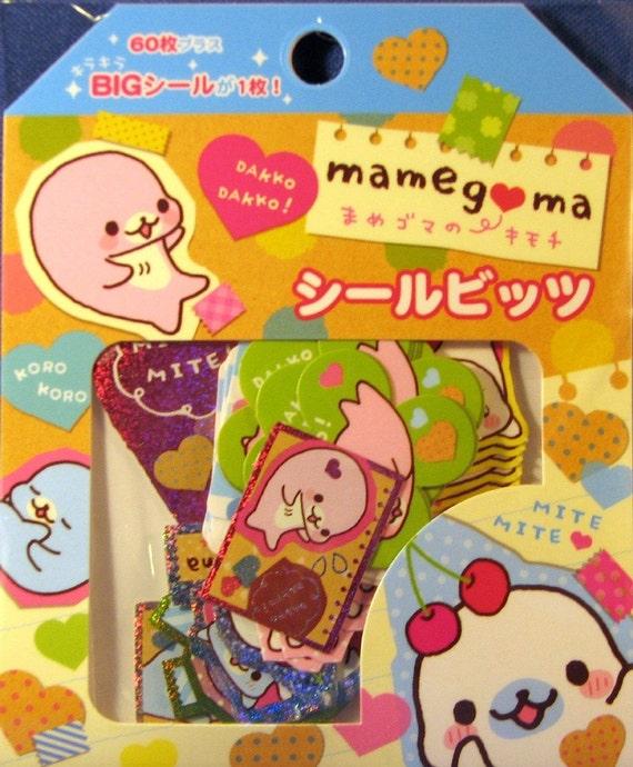 San-X Mamegoma Scented Sticker Sack B