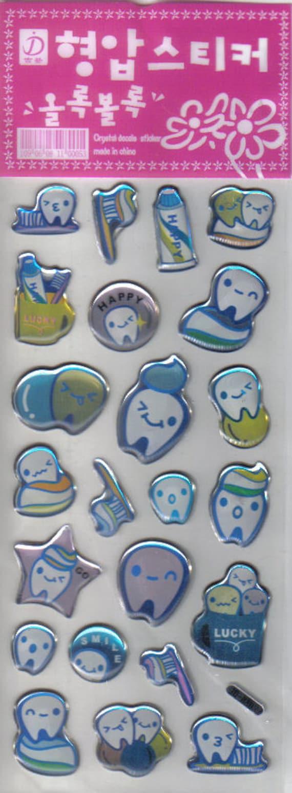 Kawaii Teeth Sticker Sheet B
