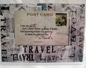 Postcard - I see my path, but I don't know where it leads - Passport Cover / holder
