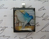 Fly Away With Me - Scrabble Tile Pendant