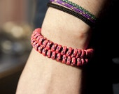 Neon Camping Cord Fishtail Bracelet- Small