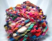 Handspun Super Duper Bulky 2-Ply Art Yarn- New Years Eve