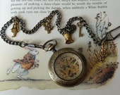 Down The Rabbit Hole working mechanical pocket watch