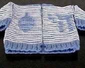 Judaica Baby Jacket Illusion Knitting Pattern - Jewish - Judaica