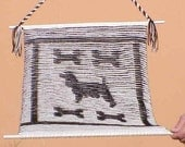 Springer Spaniel and Dog Bone Illusion Knitted Wall Hanging Pattern