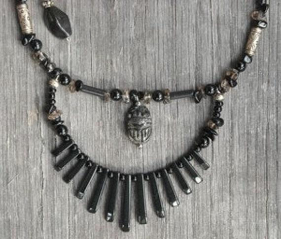Pyrite Scarab Necklace