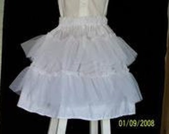 Girls petticoat slip with netting ruffles Size 3-12