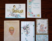Vintage (1962) Girl Baby Cards - Lot of 5 Cards