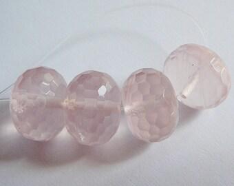 Beads, Pink Quartz Faceted Huge Rondel