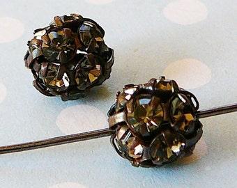 Bead Czech Rhinestone Disco Ball Smoke 8mm Bead
