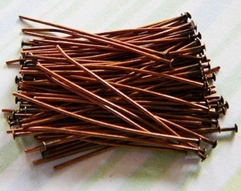 Copper 1 Inch Head Pin 24 gauge